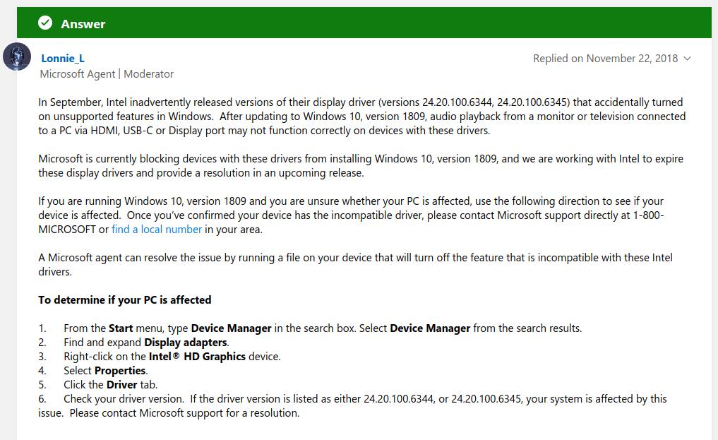 윈도우10 RS5 업데이트 문제